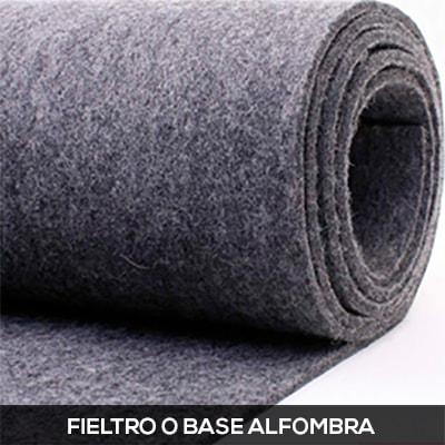 fieltro o base alfombra