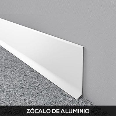 zocalo de aluminio